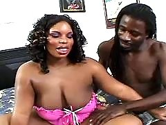 Ebony chubby lady with hot body goes naughty